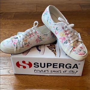 Superga Satin Floral Sneakers